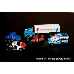 Micro Machines Semi Trucks with a Trailer, Swat Police Van, Police Car