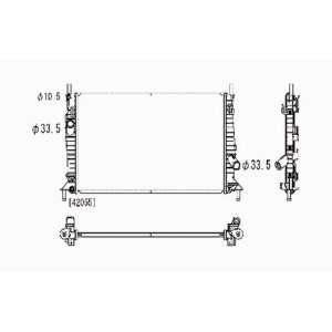 com Mazda 3 2.0L 2.3L L4 Replacement Radiator Automatic Transmission