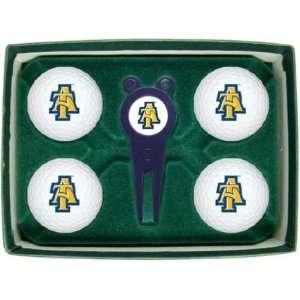 North Carolina A&T State University Aggies NCAA Golf Ball & Divot Gift