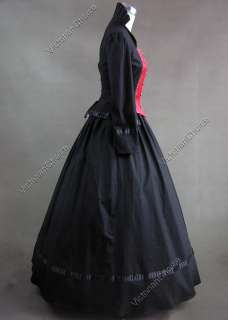 Gothic Victorian Brocade Dress Ball Gown Cosplay Prom 111 M