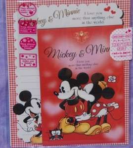 Disney Minnie Loves Mickey Mouse Stationary Letter Set