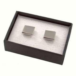 Square Metal Cufflinks in Gift Box Engraved Groomsmen Gift