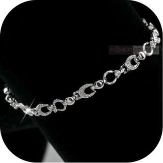 YOU ARE BUYING A NEW 18K WHITE GOLD PLATED SWAROVSKI CRYSTAL BRACELET