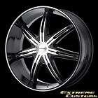 Wheels KM665 Surge Gloss Black Machined 5 6 Lug One Single Wheel Rim