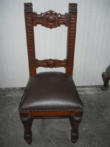 VICTORIAN ITALIAN ANTIQUE DINING ROOM CHAIRS 10IT085C
