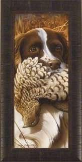 HERO Jerry Gadamus FRAMED ART Springer Spaniel Grouse Hunting Dog S/N