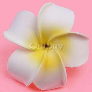 Bridal Dress Plumeria Foam Flower Hair Clip Brooch Pin