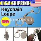 Metal Portable Antique Magnifier Magnifying Eye Glass Lens Keychain