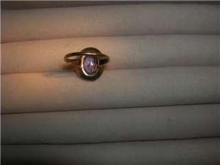 Antique 10K Rose Gold Lilac Amethyst Wedding Engagement Ring Not Scrap