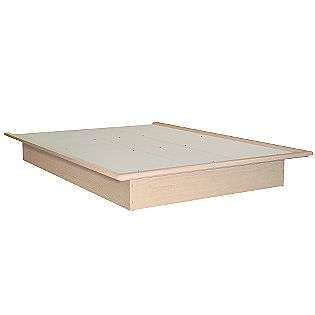 Basic Full Platform Bed   Natural Maple  South Shore For the Home