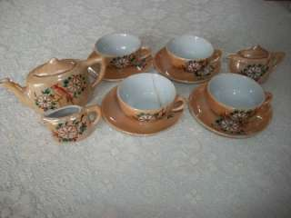 Antique Japanese Lusterware Childs Tea Set   Made In Japan   Moms