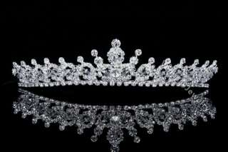 Bridal Rhinestone Crystal Prom Princess Wedding Crown Tiara 7604
