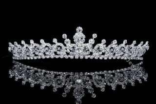 Bridal Rhinestone Crystal Prom Princess Wedding Crown Tiara 7604