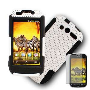 4G 2 in 1 Hybrid White/Black Hard Case Cover + Screen Protector