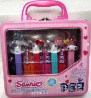 SANRIO HELLO KITTY MY MELODY PEZ TIN MINI LUNCHBOX SET