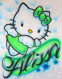 Personalized Name With Hello Kitty Wings Clouds T shirt