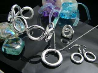 Silver EP O Collection Womens Party Jewelry Set HOT P28