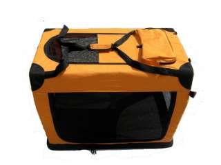 30 Portable Orange Pet Dog House Soft Crate Carrier 814836012607