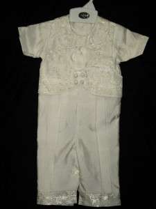 Baby Boy Ivory Christening Baptism Suit/Outfit/ siZes 3M,6M,12M,18M