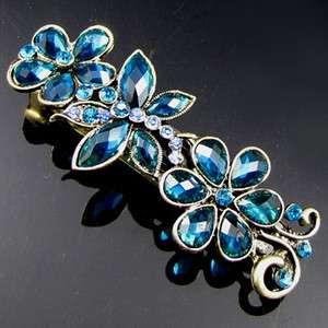 ADDL Item FREE SHIPPING, 1 pc antiqued rhinestone crystal flower hair