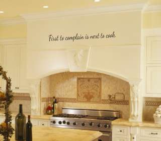 is Next to Cook Kitchen Vinyl Wall Word Art Lettering Stickers |