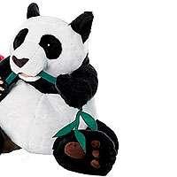 FAO Schwarz 24 inch Plush Panda Bear with Bamboo   FAO Schwarz