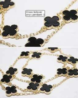 Gold Color Multi 4 Four Leaf Clover Valentines Necklace Pendant N479