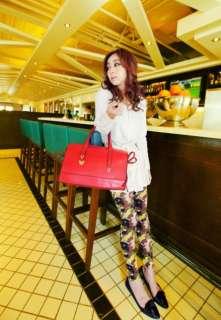 Fashion Brown Faux Leather Satchel Shoulder Bag Messenger Hobo