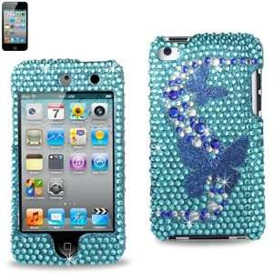 TOUCH 4 Aqua and Blue Butterfly Design DPC IPTOUCH4 73 Cell Phones