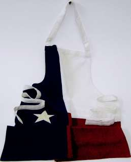 Beautiful Sewn Texas Flag Apron, very high quality