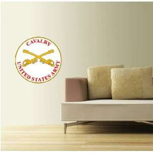 US Army Cavalry Plaque Wall Decor Sticker 22 Everything