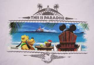 Disney Park MICKEY MOUSE Paradise T Shirt Medium NEW