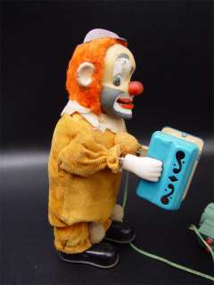 Vintage Happy N Sad Accordion Clown Bat Op Yone Japan