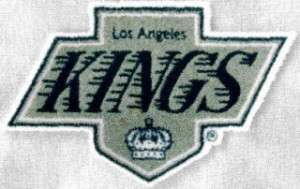 Los Angeles Kings 3 inch Lextra Iron On Gray Logo Patch