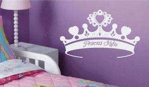 Huge Princess Crown Tiara Custom Name Wall Decal