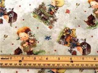 New Country Little Girls Kittens Flowers Leaves Teddy Bears Birds SPX