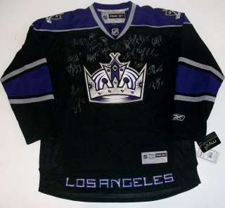 2010 LOS ANGELES KINGS TEAM SIGNED JERSEY RBK COA