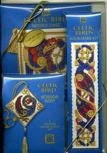 Textile Heritage CELTIC BIRD Cross Stitch Kit Giftpack