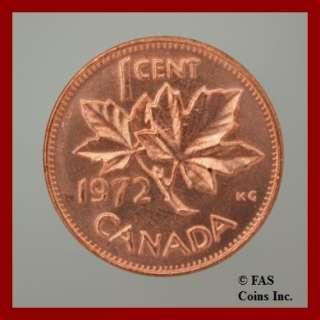 1972 BU Elizabeth II Canada Penny 1 Cent Canadian Coin