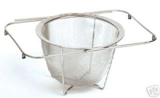 Norpro 18/10 Stainless Steel Expandable Over the Sink Colander/Steamer