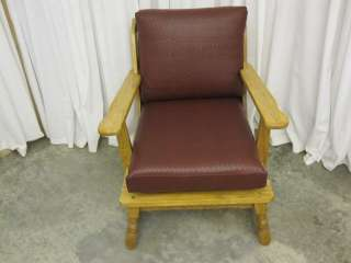 Pair of 2 Vintage Indoor/Outdoor Oak Arm Chairs w EXCELLENT CONDITION