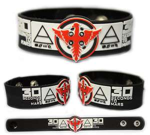 30 SECONDS TO MARS Rubber Bracelet Wristband