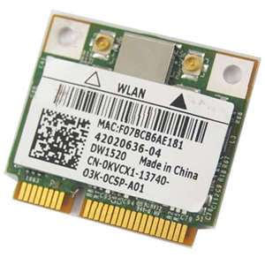 Dell DW1520 BCM4322 Wifi Wireless mini pci e half card