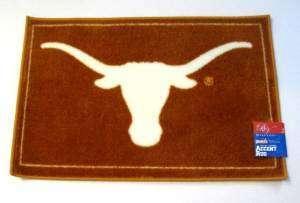 University of Texas Longhorns Rectangle Rug Orange with White Bevo