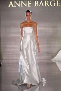 La Fleur LF184 Ivory Silk Shantung Couture Bridal Wedding Dress Gown