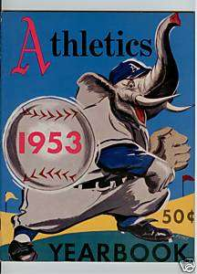 1953 PHILADELPHIA ATHLETICS MLB YEARBOOK