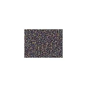 Seed Beads 11/0 Czech Matte Rainbow Extra Dark Smoked Topaz (a full