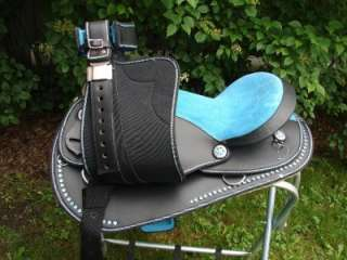WESTERN HORSE SADDLE ARAB BARREL HEADSTALL COLLAR REINS SET