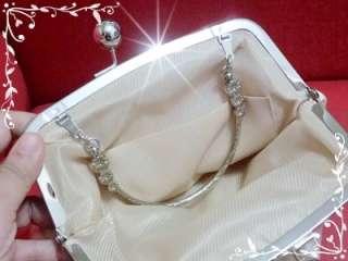Satin 3D Big Rose Bridal Wedding Bag, Evening Bag & Clutch Purse