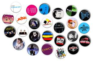 Various Eighties Retro 1980s 1 Inch Pin Button Badges